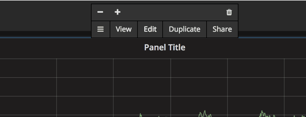 Grafana Row Edit